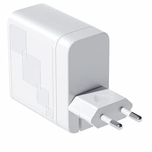 Greatangle-UK Cargador de 65W GAN Carga rápida 4.0 3.0 Tipo C PD Cargador USB con QC 4.0 3.0 Cargador rápido portátil para teléfono portátil Blanco EU