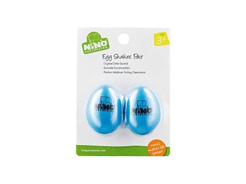 Nino Percussion NINO540SB-2 Egg-Shaker Normale Größe in Sky Blue 2er Set