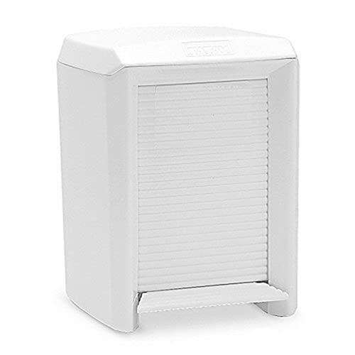 TATAY Olympia Cubo baño con apertura a pedal y cubeta interior extraible, 7 l de capacidad, Plastico Polipropileno, Blanco, 21.00x21.50x29.00 cm