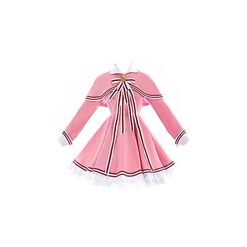 ULLAA Vestido Fotografía Cosplay Tarjeta de disfraz Captor KINOMOTO SAKURA Trajes de marinero para la exposición de Fiesta de Navidad Traje de falda lindo Traje de marinero rosa
