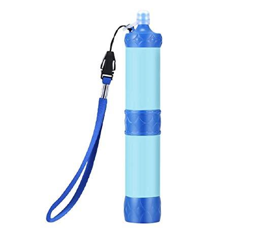 KoojawindPersönlicher Wasserfilter, tragbares Wasseraufbereitungs-Stroh-Überlebens-Wasserfiltrations-Kit für draußen, Notfallausrüstung für Camping, Wandern, Reisen, Familienleben, Rucksackreisen