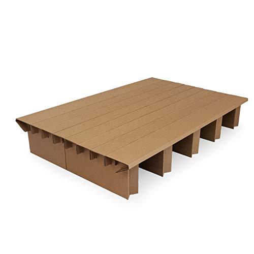 Pappbett Dream 135 cm Breite, 200cm Länge, Stauraum mit zusätzlichen Bettkästen nutzbar
