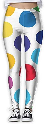 Leggings de Entrenamiento Deportivo con pantalón de Yoga Color Dots Provide Women with High-Waisted, Leggings de Yoga para Gimnasio Ultra Suaves y livianos