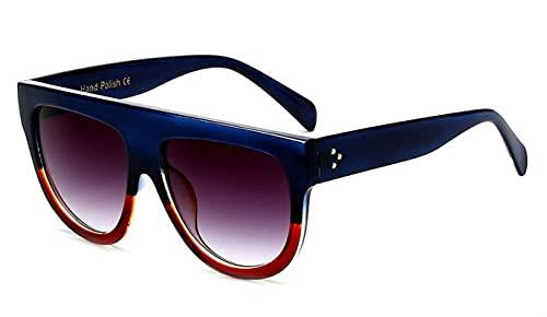 ShZyywrl Gafas De Sol Gafas De Sol Cuadradas De Gran Tamaño para Mujer, Gafas De Sol Clásicas con Gradiente para Mujer, Gafas con Personali