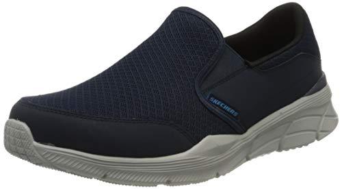 Skechers Equalizer 4.0, Zapatillas Hombre, Azul (Navy Mesh/Pu/Trim NVY), 41 EU