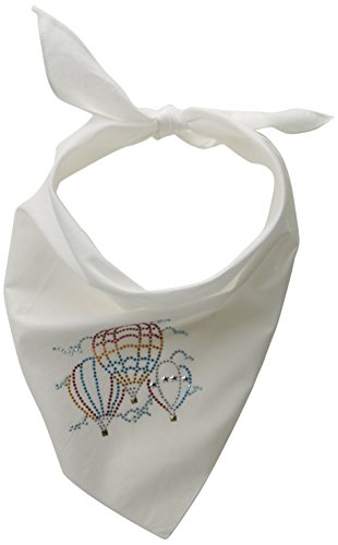 Mirage huisdier producten hete lucht ballonnen strass Bandana_P, Large, Kleur: wit