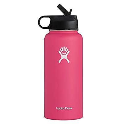 Hydro Flask Wide Mouth Water Bottle, Straw Lid, Old Style Design - 40 oz, Watermelon