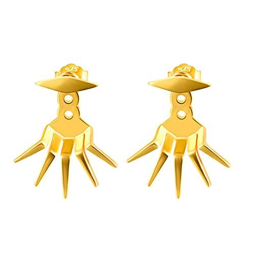 YAZILIND Pendientes colgantes con personalidad para mujeres y niñas, pendientes colgantes, joyería de fiesta (oro)
