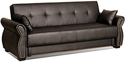 Serta SA-AVO-JB-Set Dream Convertible Seville Sofa with Storage, Java