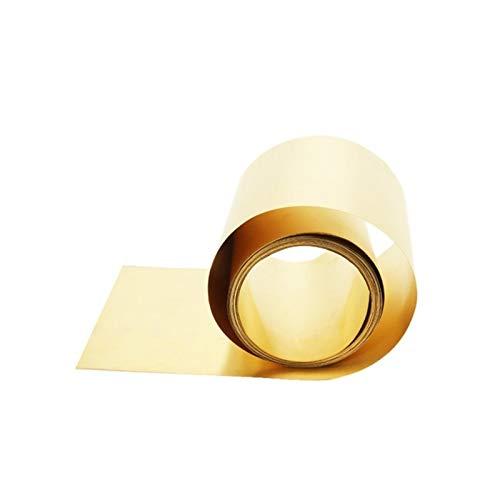 Pangocho Jinchao-Große Metallplatte Dünne Messingstreifen Dicke 0,01/0,02/0,03/0,05/0,08mm Messingblech Goldfilm Messingfolie Messingplatte H62 100mm Breite, 100% hohe Qualität