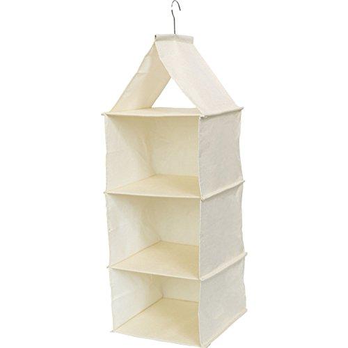 Honton Bolsas de almacenamiento para colgar 3 pisos, bolsillo tridimensional para sombreros para juguetes, necesidades diarias, color blanco