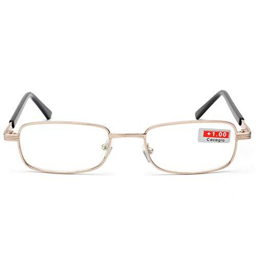 ANAI mannelijke en vrouwelijke leesbril metalen frame hars Plus filmbril, stuur ouderen naar tv mobiele telefoon computer kijken