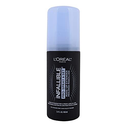 L 'Oréal Paris infallible aerosol profesional, conjunto de aerosol fijador de maquillaje, 3.4 onzas fluidas.