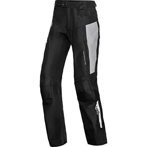 DXR Motorradhose Kinder Sommer Textilhose, Verbindungsreißverschluss, 2 Einschub-, 2 Gesäßtaschen, Taschen für Knie- und Hüftprotektoren, Protektoren nachrüstbar, Grau, 122-164