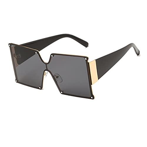 Gafas de Sol Gafas De Sol De Montura Cuadrada De Gran Tamaño A La Moda Unisex para Mujer, Gafas De Sol Grandes De Diseñador De Marca De Moda para Mujer, Uv400 C4