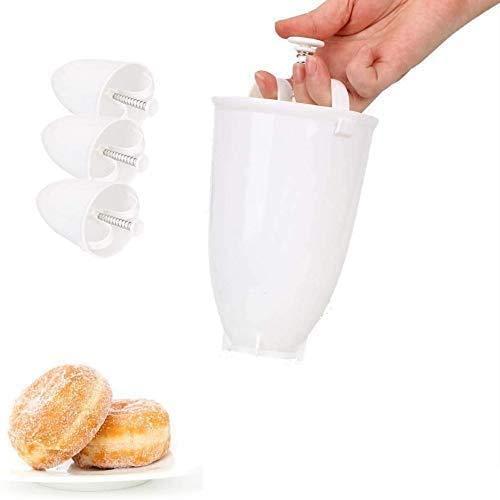 Pamura - 3 Stück Happy Donut - Donut Maker - Donut Backform - Teigspender - für köstliche Mini Doughnuts - selbstgemachtes Dessert