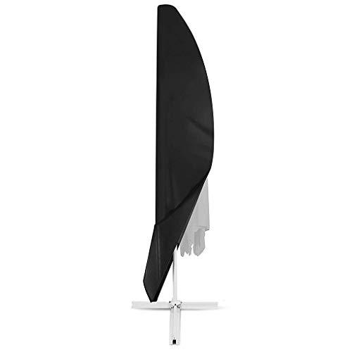 N / A Paraguas al Aire Libre, Cubierta, Polvo, Oxford respiratorias Paraguas de Tela Impermeable externos - Negro, Formato Personalizable