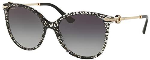 Bulgari 0Bv8201B 53768G 55 Gafas de sol, Negro (Blackan/Grey), Mujer