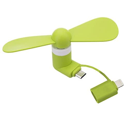 Mini ventilador portátil 2 en 1 del teléfono móvil, adaptador micro USB tipo iOS Smartphone para el ventilador de enfriamiento micro Hanldheld 05