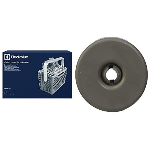 Electrolux E4DHCB01 Cestello Portaposate & 50269971003 Kit da 8 Ruote per Cestello Inferiore Lavastoviglie, Grigio