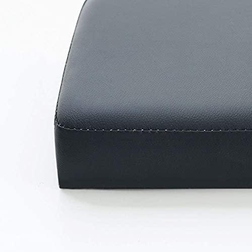 Cojín de cuero de lujo para banco de jardín, cojín largo para silla, impermeable, antideslizante, para exteriores, para patio, columpio, 2 3 4 plazas, extraíble (130 x 40 cm), color negro