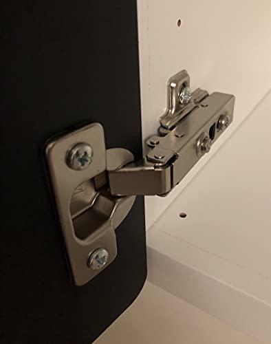 Juego de bisagras (nuevas) con cierre suave para PLATSA / SMASTAD (Ikea) con 2 bisagras y 8 tornillos.