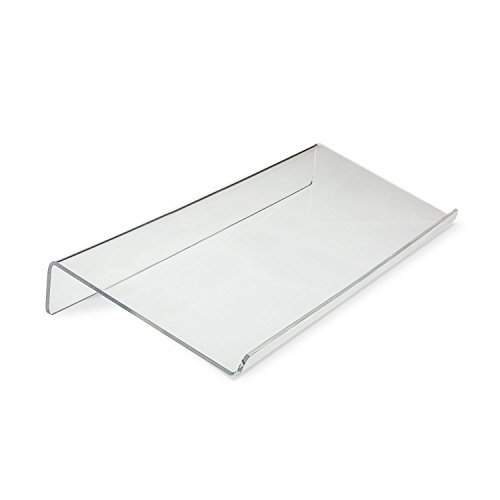viziflex seels AKS01 Angled Keyboard Stand - Tilted for Easy Ergonomic Typing - Clear Acrylic and Sturdy, Transparent