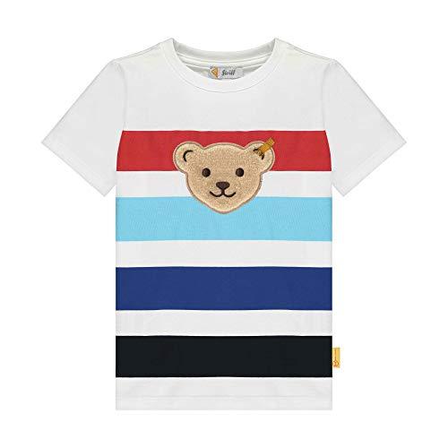 Steiff Jungen T-Shirt, Weiß (Bright White 1000), 98 (Herstellergröße: 098)
