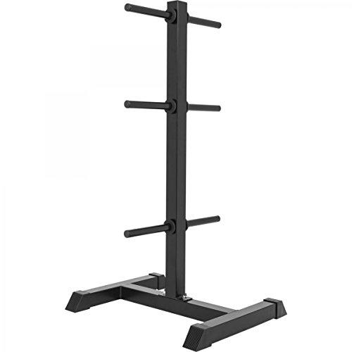 GORILLA SPORTS® Hantelscheibenständer mit 6 Scheibenaufnahmen 30/31 mm Weiß/Schwarz – bis 200 kg belastbar