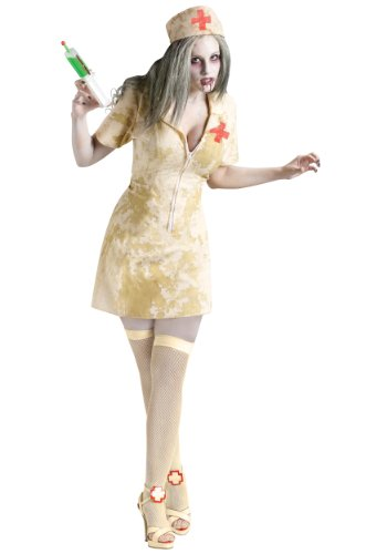 Sexy Zombie Nurse Fancy Dress Costume Medium / Large