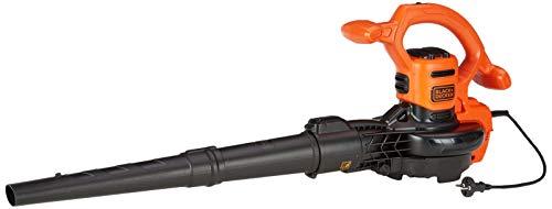 Black & Decker BEBLV260 3-in-1 elektrische bladzuiger en bladblazer, 2600 watt, met hakselaar, hoge blaassnelheid van 315 km/u, opvangzak van 40 liter en draagriem, voor terrassen, paden, opritten