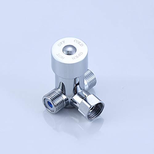 AXWT Válvula mezcladora de Llave de Agua fría y Caliente operada con el pie Válvula de Control de la Temperatura del pie Válvula de Tres vías Dos en uno Grifo de Agua (Color : Mixing Valve)