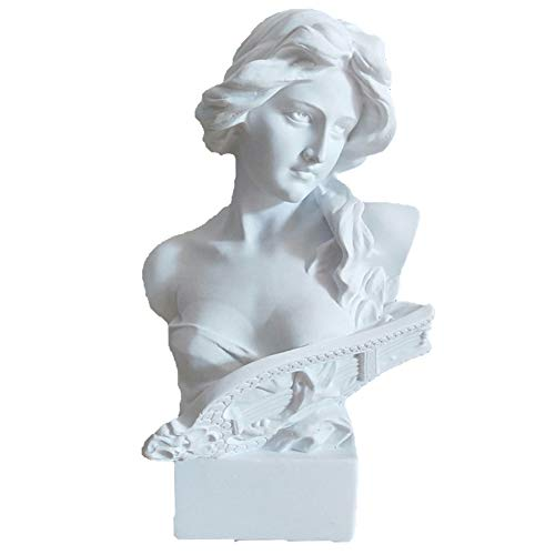 CUICI Replica Sculpture Figure,Resin Home Decoration Bust Sculpture Ornaments,Classic Desk Statue For Home Living Room Office