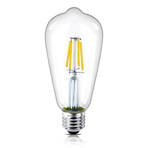 MantoLite Edison Glühbirne,Edison Vintage LED Lampe T64 E27 (4W/220V) 2600-2700K Retro Glühbirne Vintage Antike Glühbirne,Wram Licht Flimmerfreie Quelle