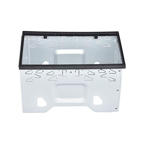 Doble DIN Marco de Montaje//ensamblaje del Eje de Metal XOMAX Universal 2-DIN Juego Completo Incluye 4 Tornillos 2 Placas de Montaje y 2 Retire Las Llaves