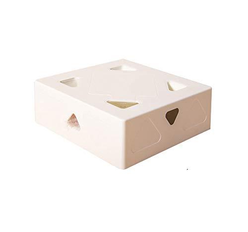 eLy Smart Cat Box, Ai Bionic Smart Cat Spielzeug, Feder Katzenstäbchen, Wird Nicht müde im Umgang mit Katzen, Abs Kunststoffmaterial, weiß