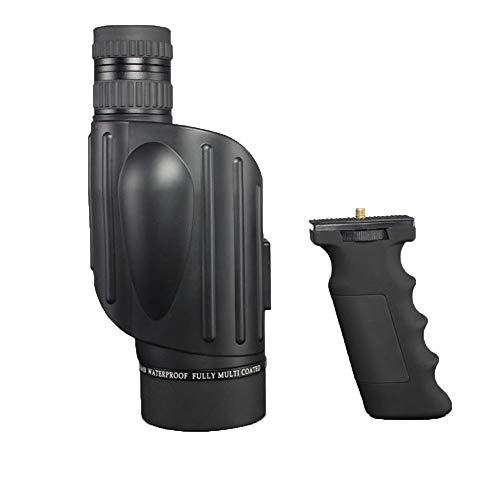 10-30 * 50 Spotting Scope, Télescope Monoculaire HD Zoom Vision Nocturne Imperméable BAK4, Tir à la Chasse Chasse Observation des Oiseaux Paysage Animal Sauvage (Noir) (Taille : 10-30 * 50+Handle)
