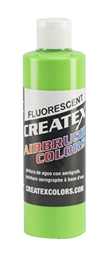 Createx Colors Paint for Airbrush, 8 oz, Fluorescent Green by Createx Colors