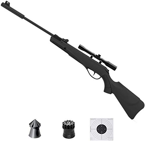 ECOMMUR Escopeta de balines | Carabina - Rifle de Aire comprimido (Muelle) y perdigones Calibre 4.5mm [3.5J - Actividades Deportivas]