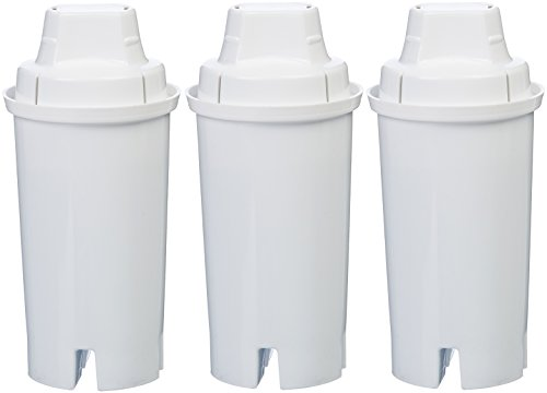 AmazonBasics Replacement Water Filters for AmazonBasics & Brita Pitchers - 3-Pack