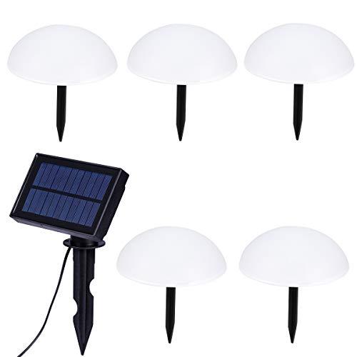Uonlytech – Lámpara Solar de Suelo, semiesférica, lámpara de jardín, Exterior, Cadena para césped, Yard Pathways, Piscina, Patio