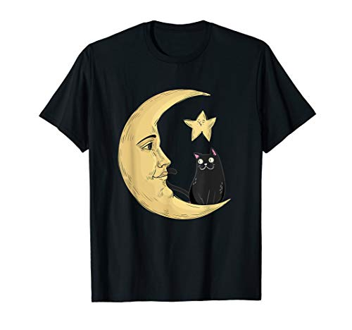Vintage Halloween Beistle Cat on the Moon Horror Gift T-Shirt