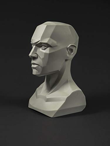 Male planar Bust: 6.7 inch Tall Head Sculpt