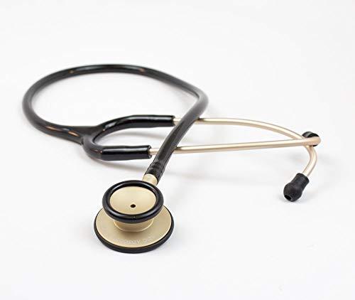 ADC Stethoskop in Champagne Schwarz | ADC Adscope®-Lite 619 Klinisches Stethoskop Gesamtlänge 30