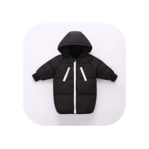 90% White Duck Down Winter Children Down Jacket Winter Jacket Kids Girls Kids Hooded Jackets Girls,Black,24M