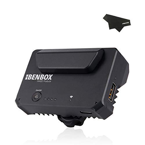 INKEE Benbox Video Transmitter, 5G WiFi Wireless Live Transmission to 4 Devices Built-in Cold Shoe, 1080p HDMI, 300ft/100m Range, Supports Android/iOS/Windows/Mac