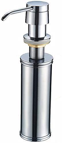 Badkameraccessoires Aanrecht zeepdispenser koperen kop flessen wasmiddel volledige 304 roestvrij staal