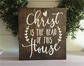 Ral454ick Puritanisches Wandbild mit englischsprachiger Aufschrift Christus is The Head of This House, religiöses Wandbild, spirituelles Schild, personalisierbar
