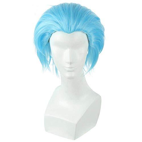 Nuevo The Seven Deadly Sins Ban Cosplay pelucas 30cm hombres azules resistente al calor pelo sinttico corto Perucas Cosplay peluca