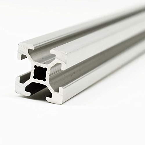 Perfil de aluminio para construcción (ranura 8, 1 unidad, 30 x 30, corte 1400 mm)